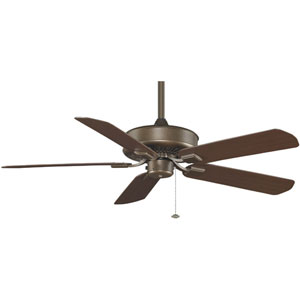 Edgewood Aged Bronze 220V Outdoor Ceiling Fan with Dark Cherry Blades