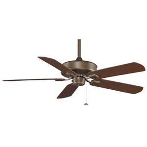 Edgewood Aged Bronze Energy Star Outdoor Ceiling Fan with Dark Cherry Blades