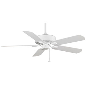 Edgewood White Energy Star Outdoor Ceiling Fan with White Blades