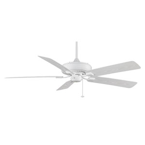 Edgewood Deluxe White Energy Star Outdoor Ceiling Fan