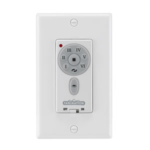 White DC Reversible Fan and Downlight Wall Control