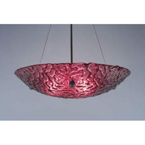 Bowl Phantom Red Bowl Pendant with 43-Inch OA Drop