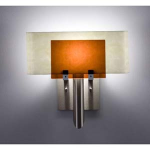 Dessy One Amber/Snow Curved Back Wall Sconce