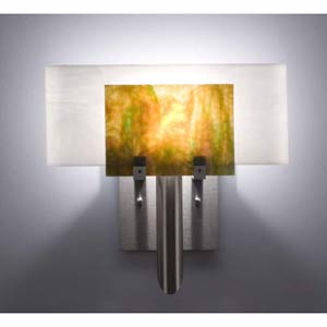 Dessy One Meadow with White Curved Back Wall Sconce