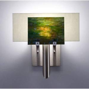 Dessy One Meadow with Snow Flat Back Wall Sconce
