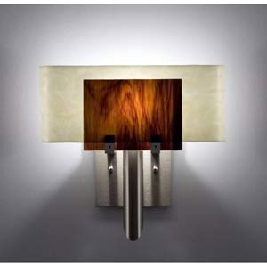 Dessy One Rootbeer/Snow Curved Back Wall Sconce