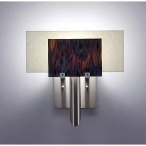 Dessy One Rootbeer/Snow Flat Back Wall Sconce