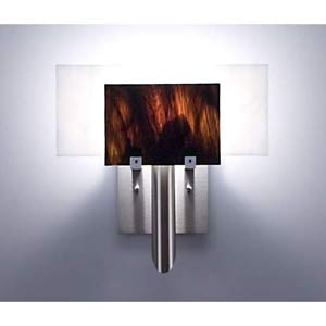 Dessy One Rootbeer/White Flat Back Wall Sconce