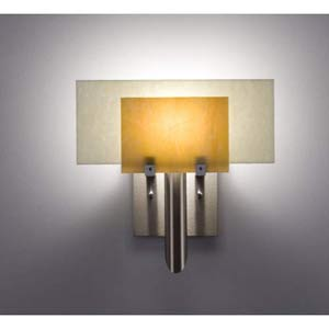 Dessy One Toffee/Snow Flat Back Wall Sconce
