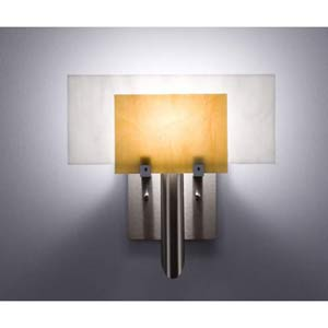 Dessy One Toffee/White Flat Back Wall Sconce