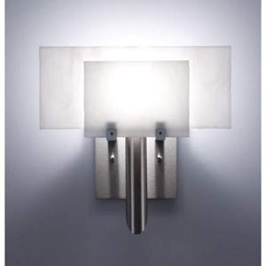 Dessy One White/White Flat Back Wall Sconce