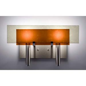 Dessy Two Amber/Snow Flat Back Two-Light Bath Fixture
