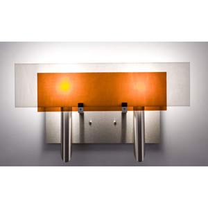Dessy Two Amber/White Flat Back Two-Light Bath Fixture