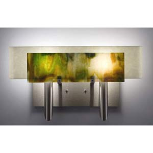 Dessy Two Meadow with Snow Curved Back Two-Light Bath Fixture