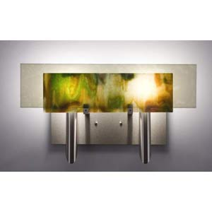 Dessy Two Meadow with Snow Flat Back Two-Light Bath Fixture