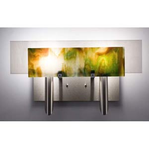 Dessy Two Meadow with White Flat Back Two-Light Bath Fixture