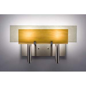 Dessy Two Toffee/Snow Flat Back Two-Light Bath Fixture