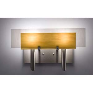 Dessy Two Toffee/White Flat Back Two-Light Bath Fixture