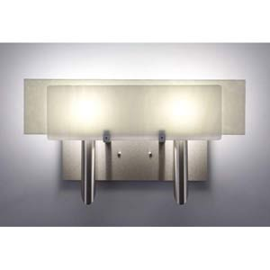 Dessy Two White/Snow Flat Back Two-Light Bath Fixture