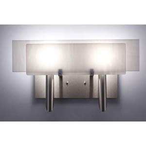 Dessy Two White/White Flat Back Two-Light Bath Fixture