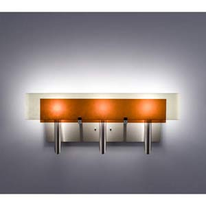 Dessy Three Amber/Snow Curved Back Three-Light Bath Fixture