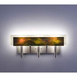 Dessy Three Meadow with Snow Curved Back Three-Light Bath Fixture