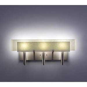Dessy Three Sno with Snow Curved Back Three-Light Bath Fixture