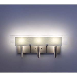 Dessy Three Sno with White Flat Back Three-Light Bath Fixture