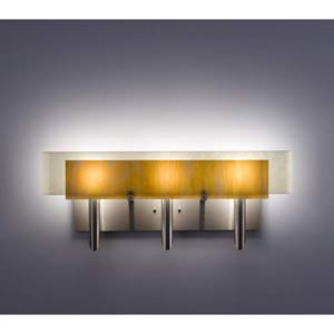 Dessy Three Toffee/Snow Curved Back Three-Light Bath Fixture