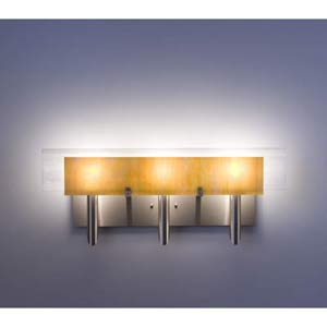 Dessy Three Toffee/White Flat Back Three-Light Bath Fixture