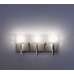 Dessy Three White/White Flat Back Three-Light Bath Fixture