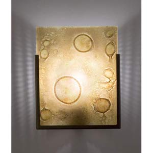 F/N One Bronze Amber Lemon Drop One-Light Wall Sconce