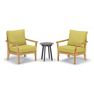 Mera 3-Piece Chat Set with Eiland Table and Peridot Cushions