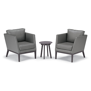Salino Nickel 3-Piece Nauticau Club Chairs and Eiland Table Chat Set