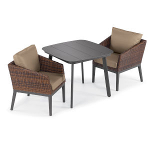 Salino Multicolor 36-Inch Patio Dining Set, 3-Piece