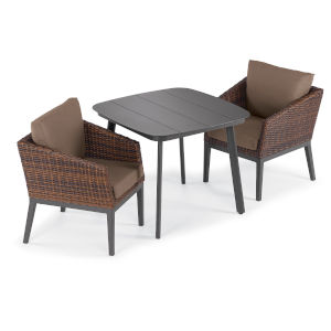 Salino Multicolor Patio Dining Set, 3-Piece
