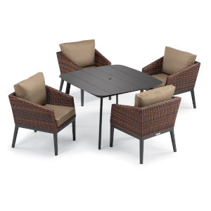 Salino Multicolor 45-Inch Patio Dining Set, 5-Piece