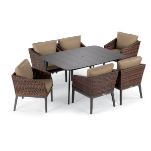 Salino Multicolor 63-Inch Patio Dining Set, 7-Piece