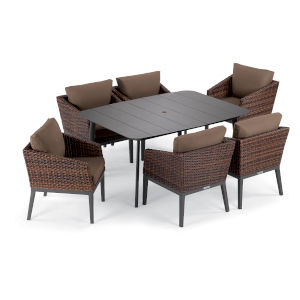 Salino Multicolor Patio Dining Set, 7-Piece
