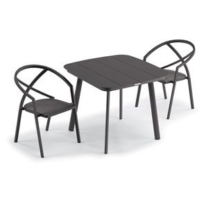 Azal Carbon Dining Table Set, Three-Piece