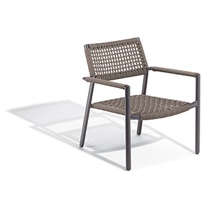 Eiland Composite Cord Mocha and Carbon Club Chair- Set of 2