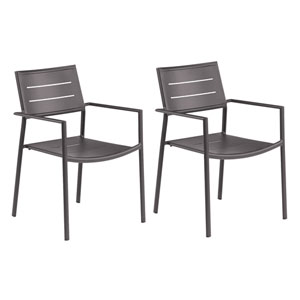 Eiland Carbon Patio Arm Chair, Set of 2