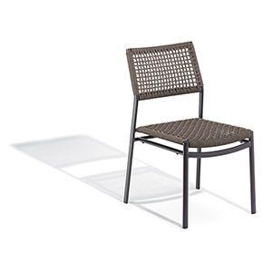 Eiland Composite Cord Mocha and Carbon Side Chair- Set of 2