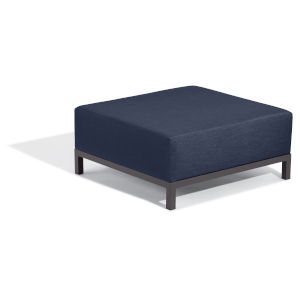 Koral Carbon and Spectrum Indigo Outdoor Ottoman