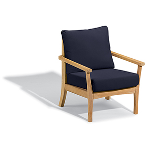 Mera Club Chair with Admiral Blue Cushions