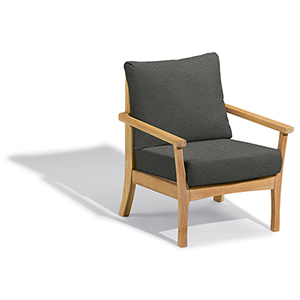 Mera Club Chair with Heather Black Cushions