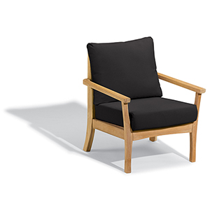 Mera Club Chair with Black Onyx Cushions
