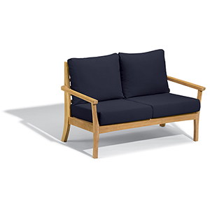Mera Loveseat with Admiral Blue Cushions