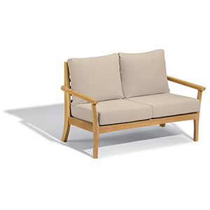 Mera Loveseat with Camel Cushions