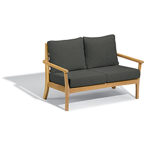 Mera Loveseat with Heather Black Cushions